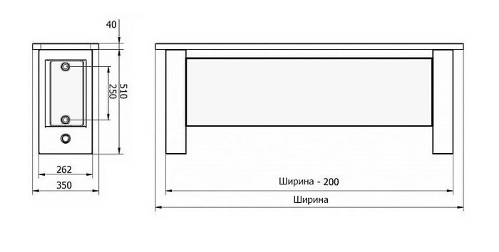 Схема радиаторов Panel Plan Hygiene Bench | www.msk.purmo-radiators.com